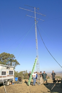 The VHF/UHF arrays installed
